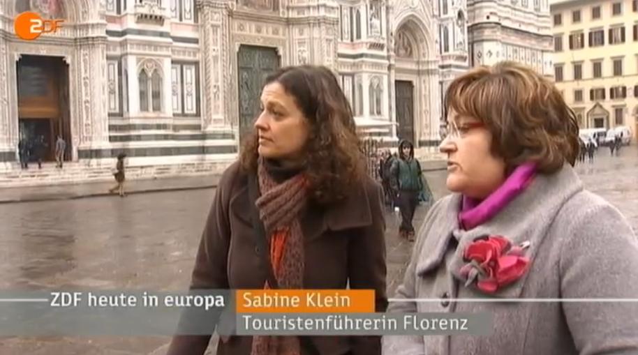Stadtführung Florenz für das ZDF